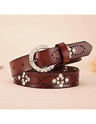 WZW Ceintures de cuir pour le mode creux parsemées de ceintures femmes