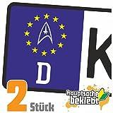 Sternenflotte Abzeichen Kennzeichen Aufkleber Sticker Nummernschild - IN 15 FARBEN
