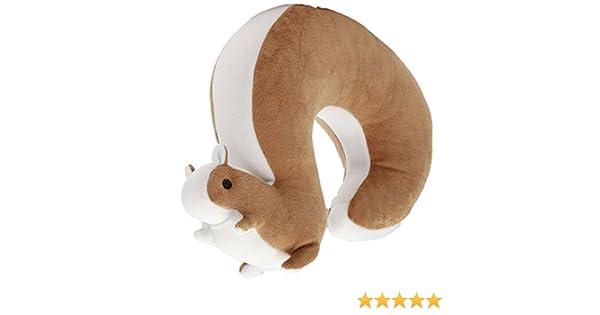 Lacheln /Écureuil de bande dessin/ée Oreiller en forme de U Oreiller en forme de U Portable pour le Voyage