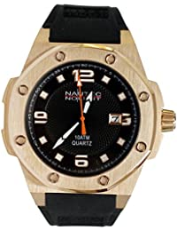 Nautec No Limit Herren-Armbanduhr Sailfish Analog Quarz Kautschuk SF-QZ2-RBRGRGBK