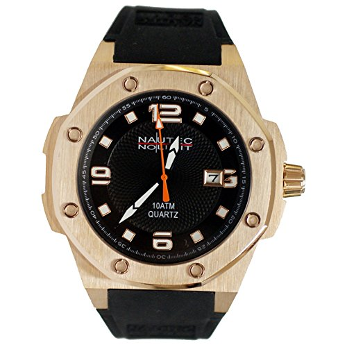Nautec No Limit Men's Quartz Watch Sailfish SF-QZ2-RBRGRGBK with Rubber Strap