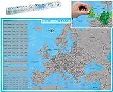 blupalu I XXL Europakarte Zum Rubbeln mit Länder-Flaggen I Rubbel-Chip I Landkarte Zum Freirubbeln I die Besten Sehenswürdigkeiten I 89 x 59 cm | Deutsch