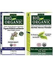 Indus Valley Bio Organic Natural Indigo Powder and Henna Po
