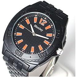 Henley Jumbo schwarz/orange Herrensportuhr