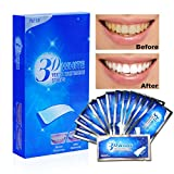 Aiooy Bright White-Strips 28 Bleaching-Stripes Zahnauhellung-Streifen mit Advanced No-Slip Technology