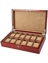 Boîte de montre en bois/Laque piano12 boîte de montre mécanique seulement/boîtes/boîte de rangement de bijoux-A