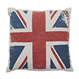 Kissen London UK Flag Vintage (50 x 50 cm) Multi & # •; Baumwolle