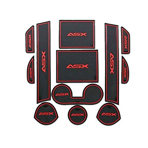 Windy5 Für Mitsubishi ASX 13-15 Schlupftür Groove Tor Slot-Auflage-Matte Kit Car Gleitschutzartikel Cup Mats Dekoration