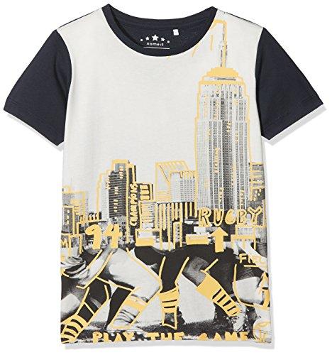 NAME IT Jungen T-Shirt Nkmjanko SS Top, Blau (Dark Sapphire), 128 (Herstellergröße: 122-128)