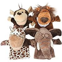 Alpacasso Conjunto de Marionetas de Mano de Felpa Animales Lindos, muñecos de Peluche de Animales de Peluche Juguetes de Animales. (Big Mouth*4) - Peluches y Puzzles precios baratos