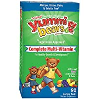 Yummi Bears Vegetarian Multi-Vitamin & Mineral for Kids, 90 Gummy Bears by Yummi