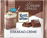 RITTER SPORT Eiskakao-Creme (12 x 100 g), gefüllte Vollmilchschokolade mit Kakao-Creme und Schokosplittern, Tafelschokolade, Sommersorte