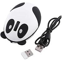 Sutinna Mouse per Computer Panda Wireless Wireless, Mouse Ottico Ricaricabile ergonomico per Win/Mac/Linux/Andriod/iOS