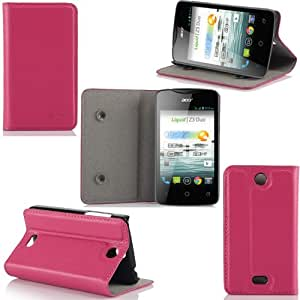 Etui Acer Liquid Z3 Duo (3G/Wifi/) Ultra Slim rose Cuir Style avec stand - Housse coque de protection pour Acer Liquid Z3 Duo (Dual)rose - Accessoires pochette XEPTIO : Exceptional case !