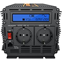 Spannungswandler 15003000W von 12V auf 220V Wechselrichter LCD