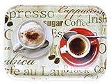 Lashuma Kleines Melamin Frühstückstablett rechteckig | Druck: Espresso | 31 x 23 cm