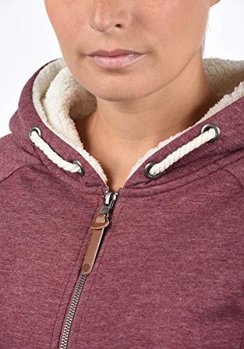 DESIRES Mandy Pile Damen Sweatshirt Pullover Pulli Mit Teddy-Futter, Größe:XS, Farbe:Wine Re P (P8985) - 5