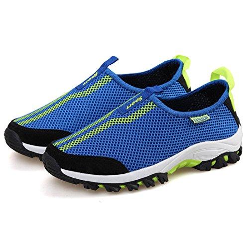 DorkasDE Mesh Schuhe Atmungsaktiv Wassersportschuhe Sneaker Strandschuhe für Damen Herren Kinder Blau