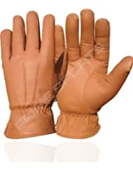NUEVO TOP QUALITY REAL PIEL MENS SHENZHEN BORIYUAN LEATHER CO, GUANTE 70GRM THINSULATE TAN PEQUEÑOS 087