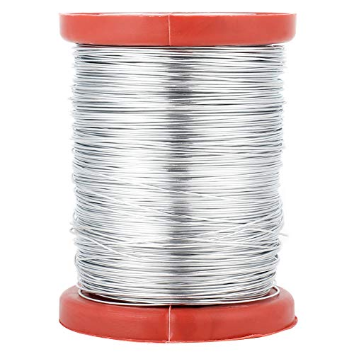Liineparalle 1 Rolle 0,5 mm Bienenwabe Frame Wire Eisen/Edelstahl Draht Imkerei liefert Bienenstöcke Frames Tool MEHRWEG VERPACKUNG(02#) -
