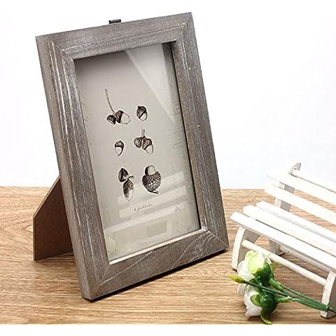 POTOBrand, casa de marco de foto Vintage decoración de boda de madera Casamento cuadros marcos (Color de la