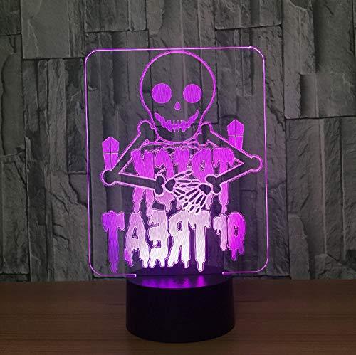 d Touch Nachtlicht Schreibtisch Tisch Haus Dekor 7 Farbe Usb Change Boy Kid Spielzeug Tragbare Visuelle 3D Halloween Geister ()