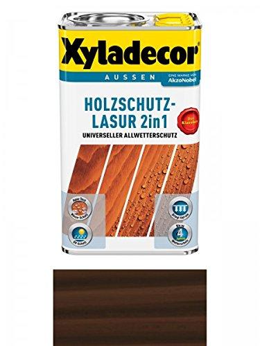 Xyladecor Holzschutzlasur 2in1 Aussen, 5 Liter, Farbton Palisander