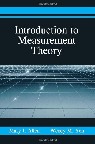 Introduction to Measurement Theory: by Mary J. Allen (2001-12-01)