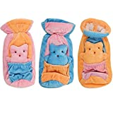 Kidzvilla Velvet Baby Bottle/ Feeder Cover 150-200Ml (Pack Of 3) (Multicolor)