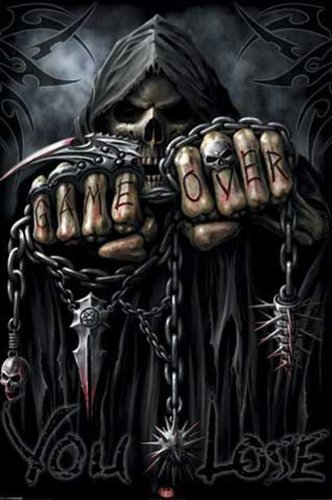 empireposter - Game Over Reaper - Spiral - Größe (cm), ca. 61x91,5 - Poster, NEU - (Game Over Poster)