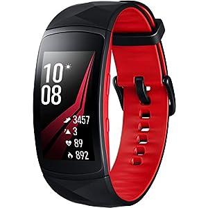 Modelabs Samsung Gear Fit 2 Pro - Seguidor de Actividad con Monitor de Ritmo cardiaco, Talla Small, Rojo [Versión importada: Podría presentar Problemas de compatibilidad]
