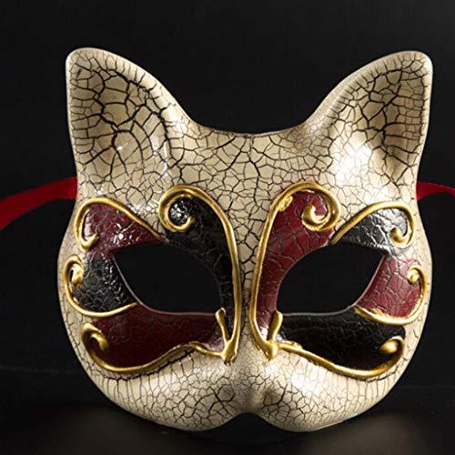Jkhhi Kinder Maskerade Maske Vintage Venezianische Karierte
