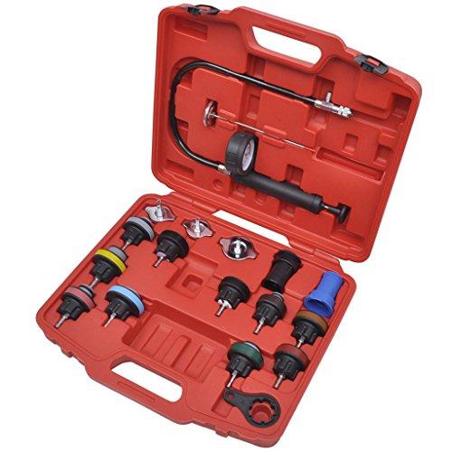 vidaXL Kit de testeur pression du radiateur (18 pièces)pas cher
