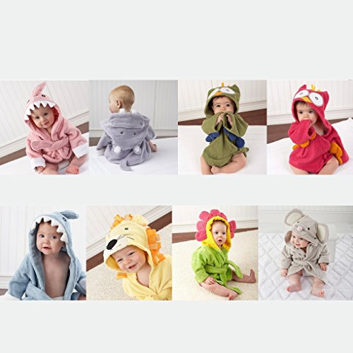 QHGstore-Cartoon-Mit-Kapuze-Tier-Baby-Badetcher-Kinder-Absorbent-Baumwolle-Bademntel-Pyjamas