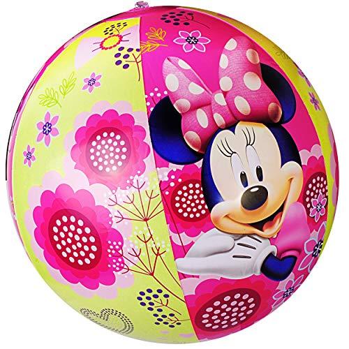 alles-meine.de GmbH Strandball / Ball aufblasbar -  Disney - Minnie Mouse  - Ø 40 cm - Wasserball - aufblasbarer großer Ball / Beachball - Kinder - Baby - Spielball Aufblasball.. (Mickey Badespielzeug)