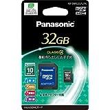 Panasonic 32Go carte mémoire MicroSDHC Class 4avec adaptateur MicroSD-SD | Rp-sm32gfj1K | 10Mo/s Trate de transfert (japan import)