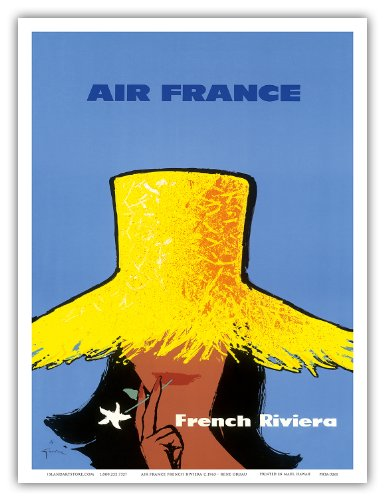 air-france-french-riviera-ctmte-dazur-south-of-france-vintage-airline-travel-poster-by-rene-gruau-c1