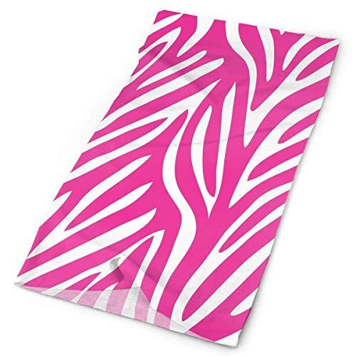 Pink Zebra Leopard Tiger Animal Print Headband Men Women Headwrap Magic Head Scarf Bandana Headwear Neckerchief Polyester Pirate Hat Liner Casual Headdress Foulard Face Mask Neck Gaiter