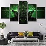 mmwin Mur Art Affiche Modulaire Photos pour Salon Décoratif Toile Imprimé 5 Panneau Alien Covenant Science