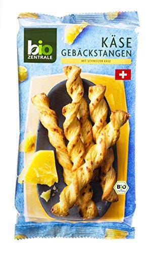 Preisvergleich Produktbild biozentrale Käse Gebäckstangen mit Schweizer Käse,  5er Pack (5 x 100 g)