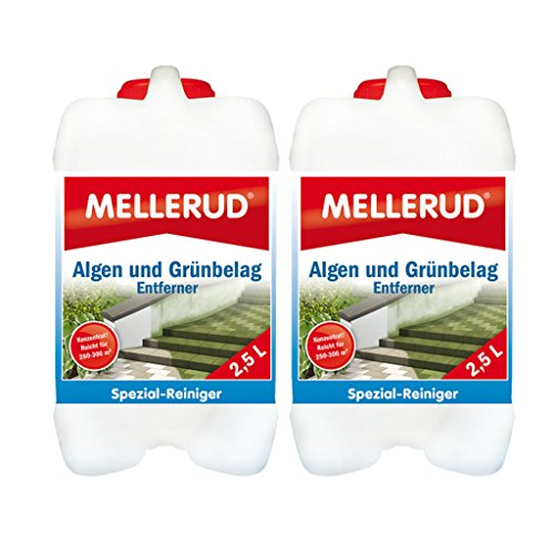 2x Mellerud Algen und Grünbelag Entferner 2,5 Liter