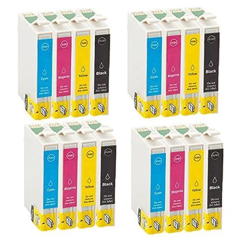 win-tinten 16 T0711-T0714 Kompatible Tintenpatrone als Ersatz für Epson SX215 SX100 SX200 SX415 SX600FW DX7000F DX7400 DX7450 DX8400 DX8450
