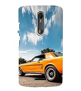 iFasho Orange colour Car Back Case Cover for Motorola MOTO X3