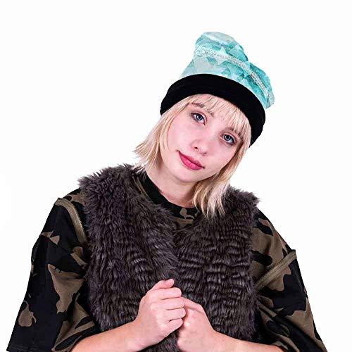 Qiusa Hüte, Weihnachten Unisex Caps Entzückendes Muster Bedruckte Weihnachtsfeierhut Fancy Dress Partyhüte Deluxe Neuheit Mützen Weihnachten Motto Familie Hut für Erwachsene (Cap Skull Deluxe)