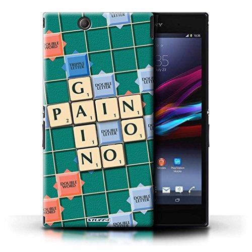 Kobalt® Imprimé Etui / Coque pour Sony Xperia Z Ultra / Douce Vengeance conception / Série Mots de Scrabble Aucun Douleur Gain