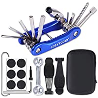COZYROOMY Kit Reparación Herramientas Bicicleta,10 en 1 Herramienta multifunción (con Separador Cadena) y Accesorios de Repuesto, Llave de Llave de Hueso y Paquete Herramientas