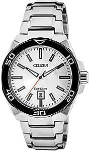 Citizen Eco-Drive Analog Silver Dial Men's Watch AW1190-53A