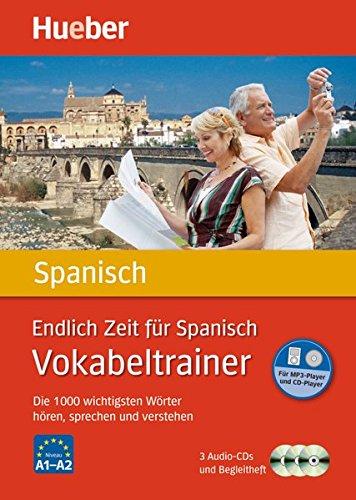 Endlich Zeit für Spanisch - Vokabeltrainer: Die 1.000 wichtigsten Wörter hören, sprechen und verstehen / Paket (Endlich Zeit für Vokabeltrainer) (Sprechen Spanisch Cd)