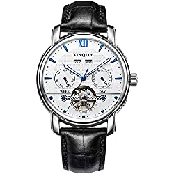 Automatic mechanical watches/Fashion strap watches/Mens multifunction watch-A