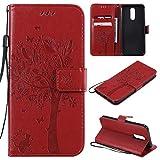 ANNNWZZD LG K40 mobile phone case, LG K40 wallet, Embossed